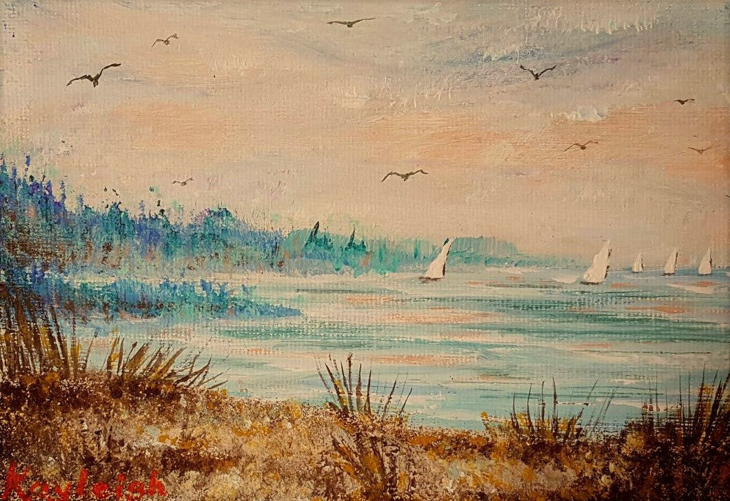 Morning on the Harbor-Original-SOLD
