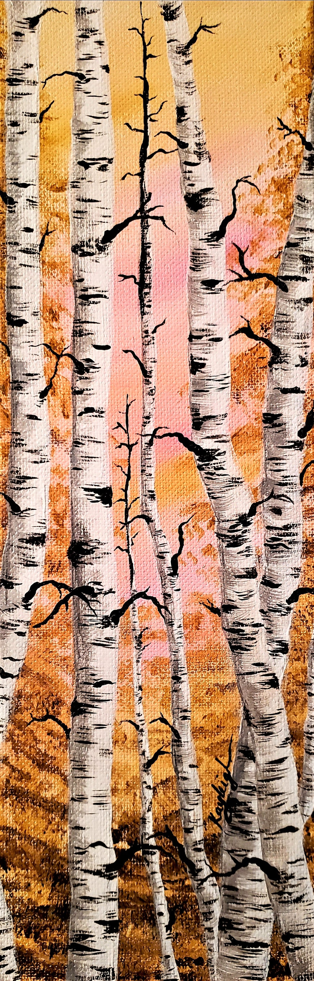 Through the Birch Trees-Original