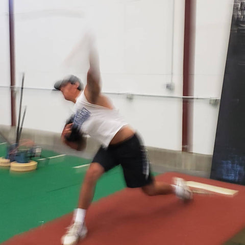 Baseball pitching mechanics in motion