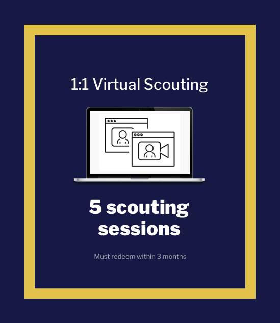 5 Virtual Scouting Sessions (30 minutes)