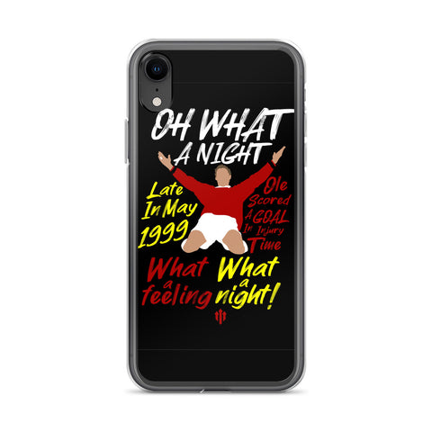"MUFC:  ""Oh What A Night Chant"" iPhone Case"