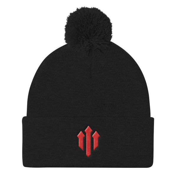 Full Time Devils Pom Pom Knit Cap