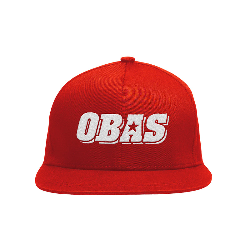OBAS RED FLAT BILL CAP