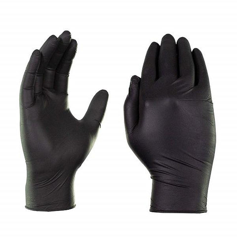 Ascari Professional Nitrile Ultra Soft Powder Free Black Gloves Large