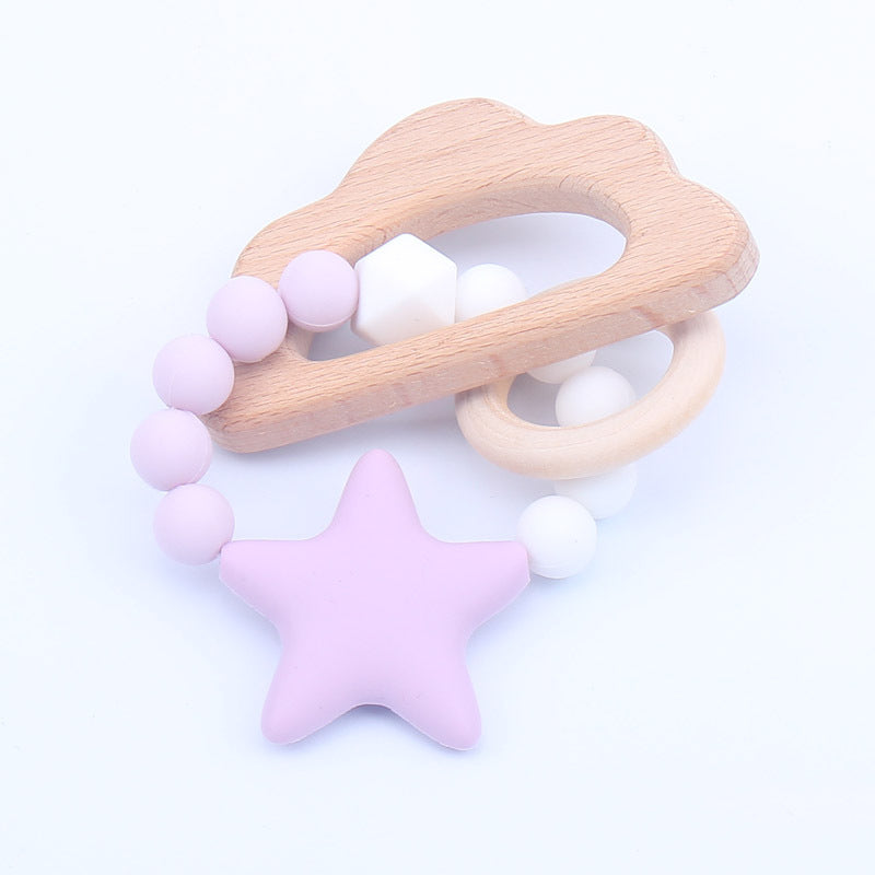 Nature wooden baby teether- Cloud