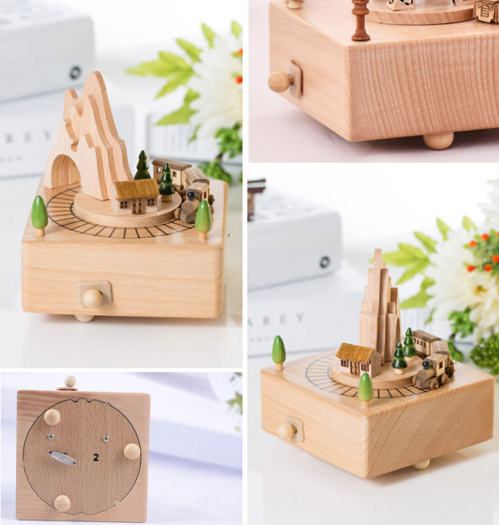 Home Decor Originality Wooden Music Box--Roller Coaster