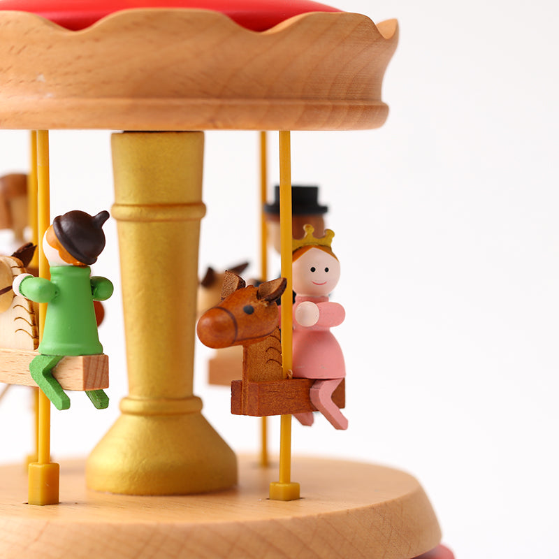 Home Decor Originality Wooden Music Box--Merry Carousel