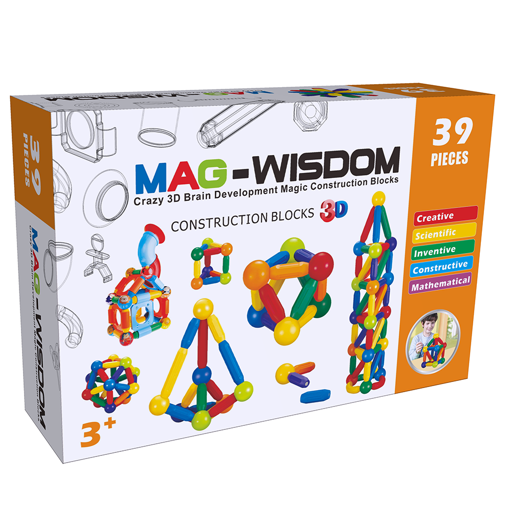 Mag-Wisdom 3D Magnetic Construction Blocks--39 pic