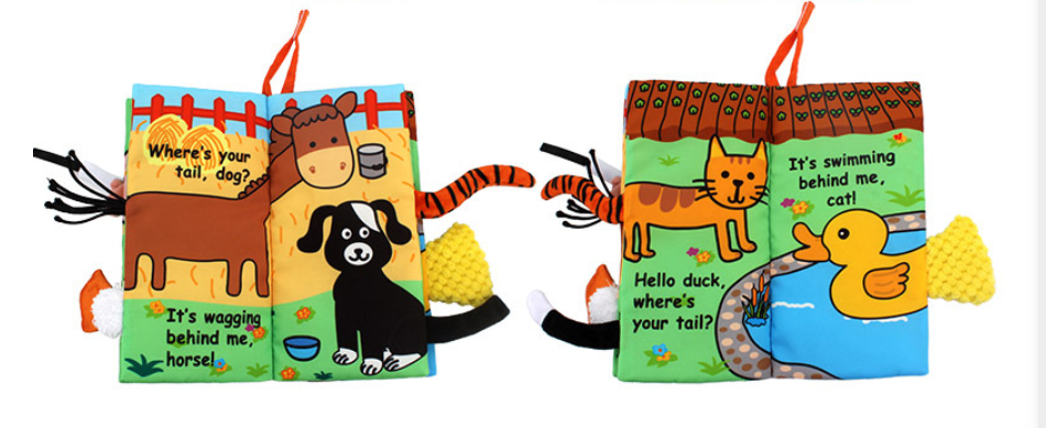 Jollybaby Animals Stereoscopic Tails Cloth Book-Farm