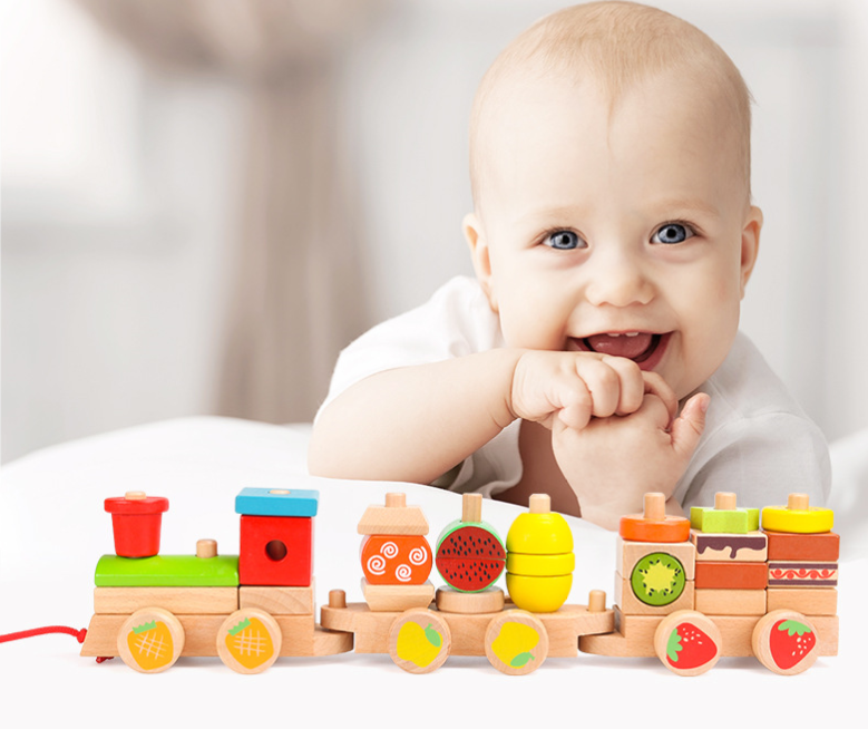 Stacking Wooden Train- Fruit world