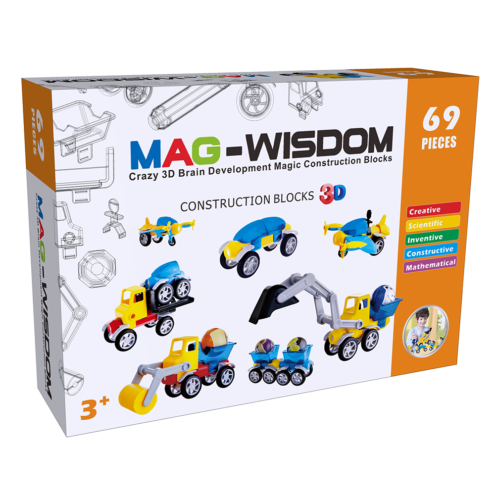 Mag-Wisdom 3D Magnetic Construction Blocks--69 pic