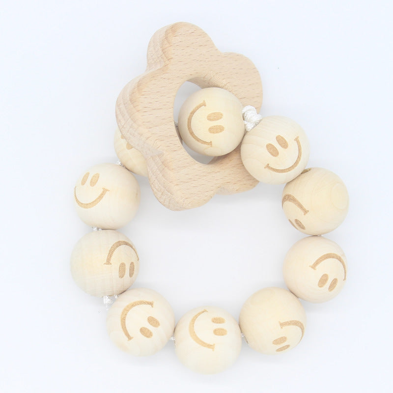 Nature wooden baby teether- Plum Blossom