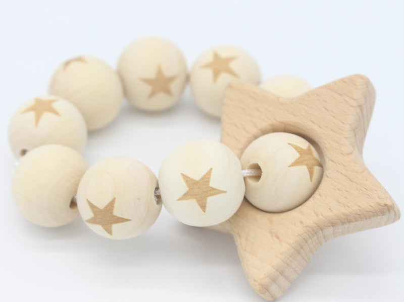 Nature wooden baby teether- Star