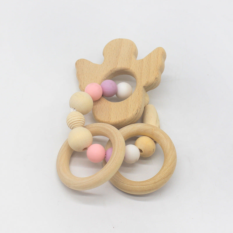 Nature wooden baby teether-Cactus