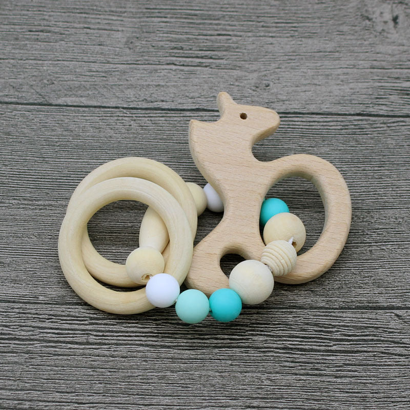 Nature wooden baby teether- Sea Horse