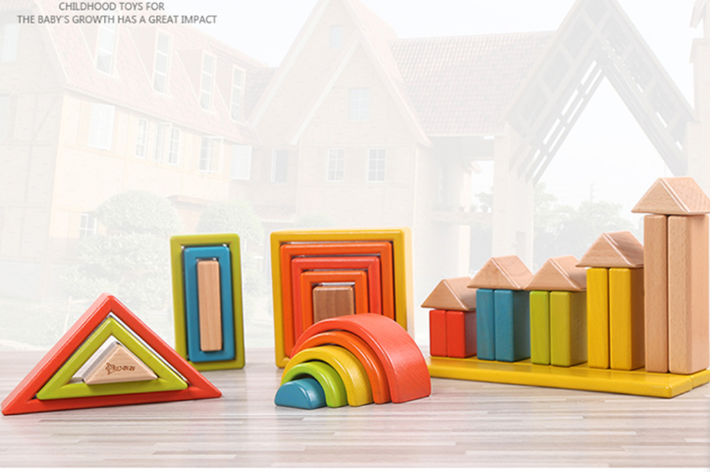 PrinceMom- Integrated Wooden Building Block Set