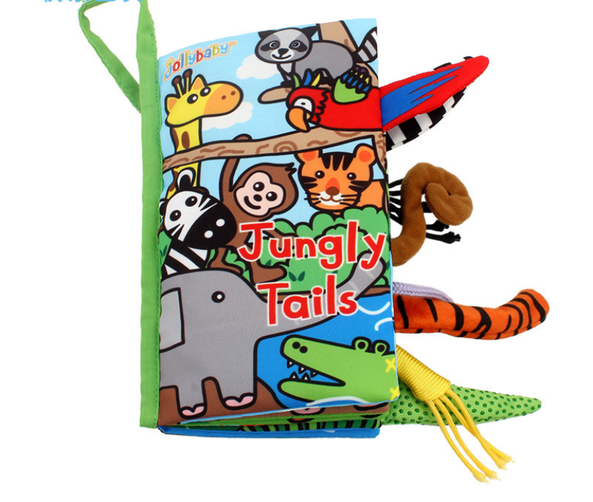Jollybaby Animals Stereoscopic Tails Cloth Book-Jungle
