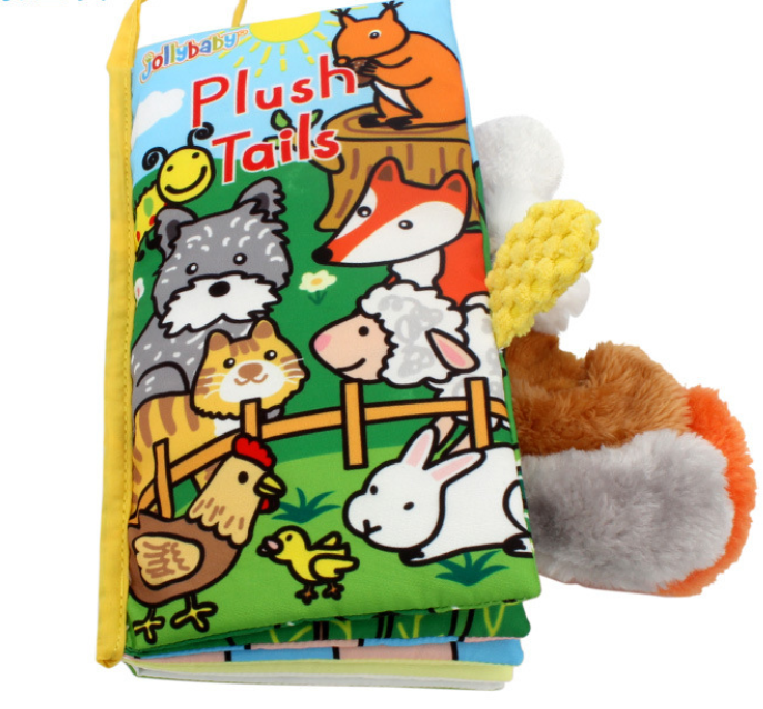 Jollybaby Animals Stereoscopic Tails Cloth Book-Plush