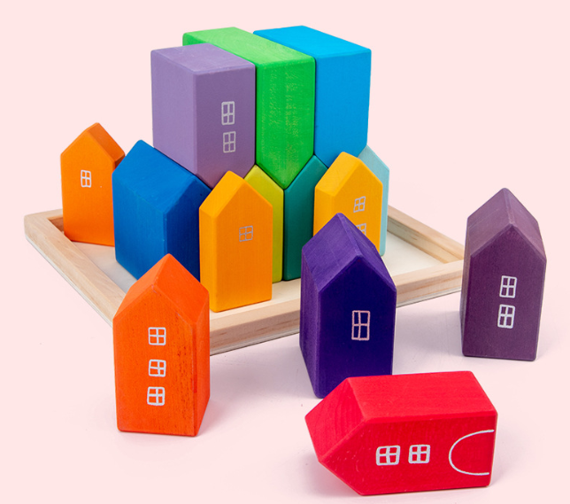 Montessori Rainbow House Blocks