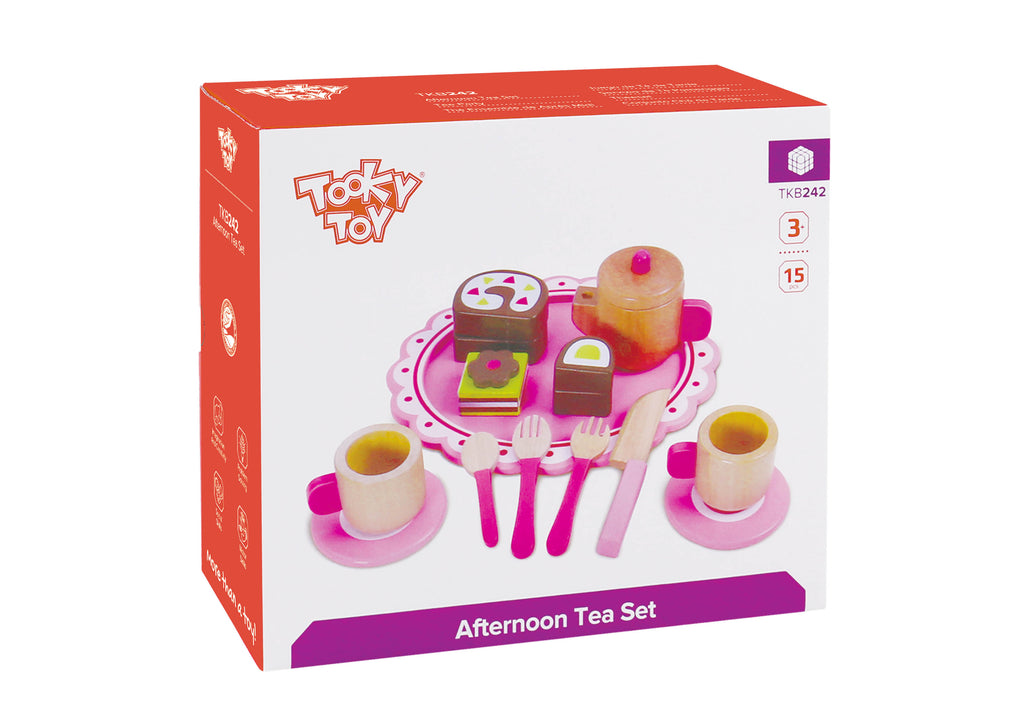 Tooky Toy Wooden Afternoon Tea Set