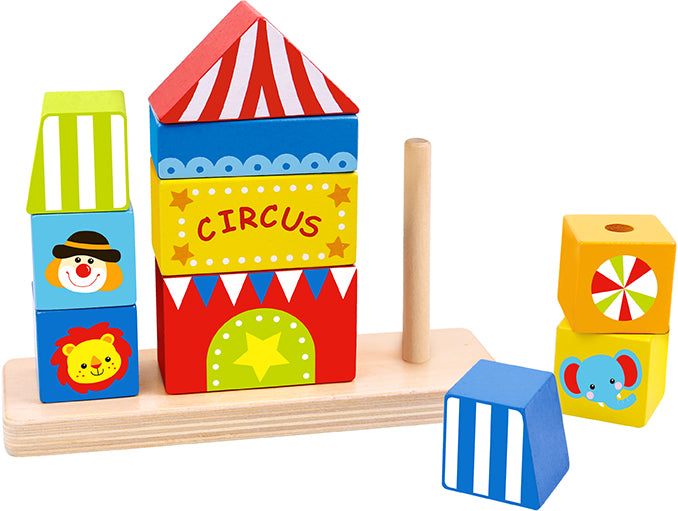 Tooky Toy Wooden Circus Block Tower