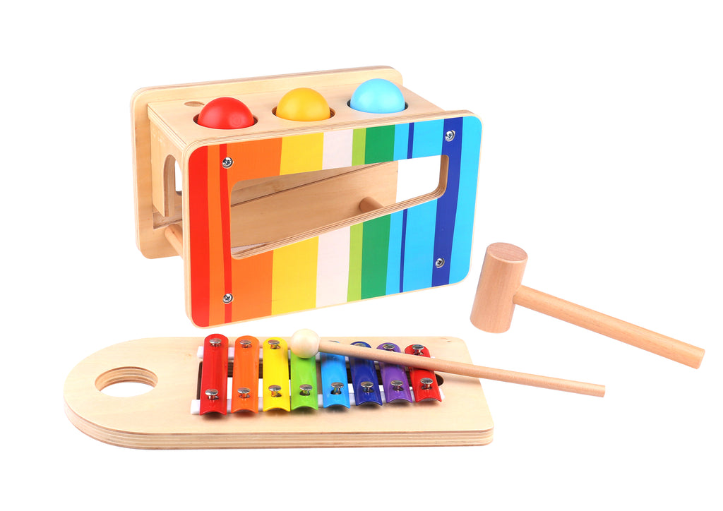 Tooky Toy Wooden Pound & Tap Bench