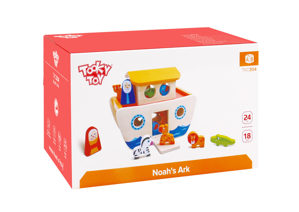 Tooky Toy  Kids' Noah's Ark Wooden Set
