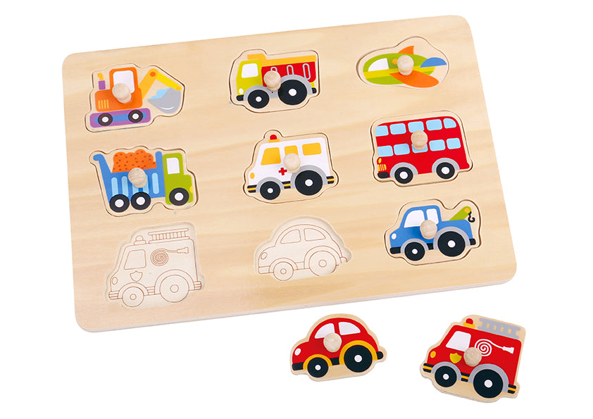 Tooky Toy Wooden Transportation Puzzle