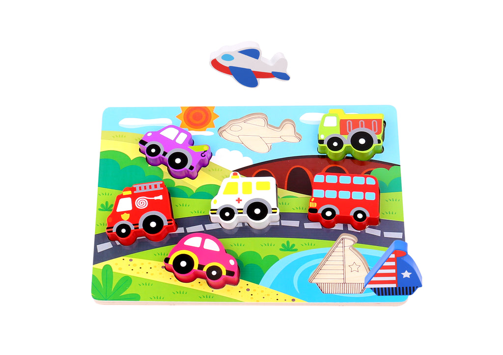 Tookt Toy Chunky Puzzle - Transportation