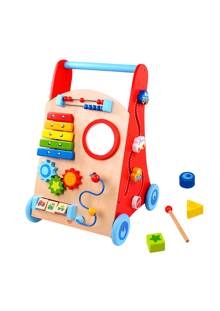Tooky Toy Wooden Baby Walker with Xylophone