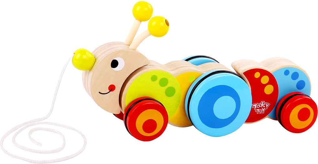 Tooky Toy Wooden Pull Along - Caterpillar