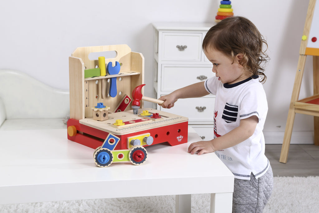 Tooky Toy Wooden Foldable Workbench