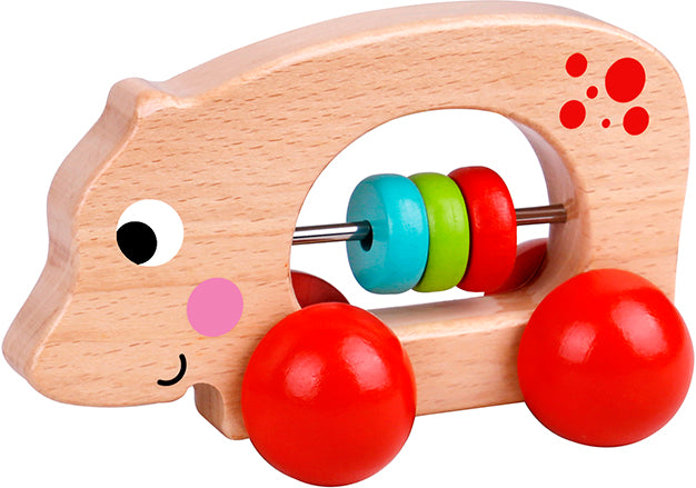 Tooky toy Wooden Animal Roller-Hippo
