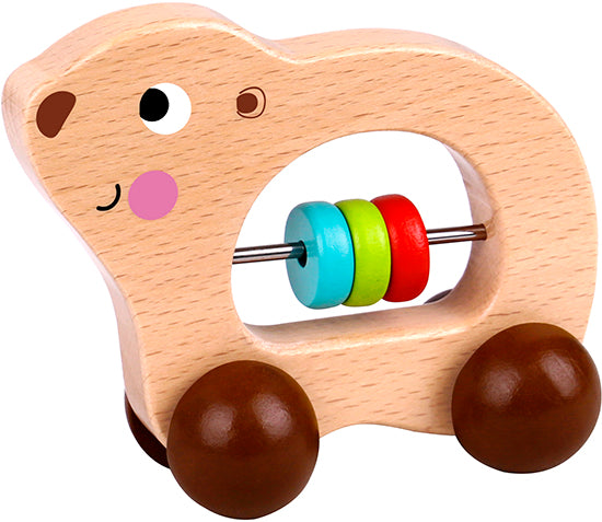 Tooky toy Wooden Animal Roller-Bear