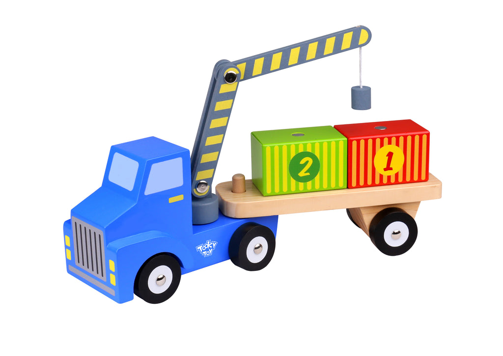 Tooky Toy Wooden Container Carrier
