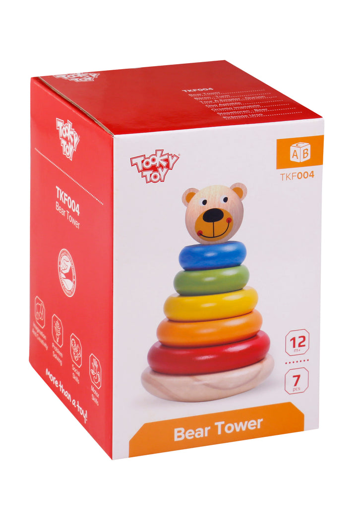 Tooky Toy Wooden Bear Tower