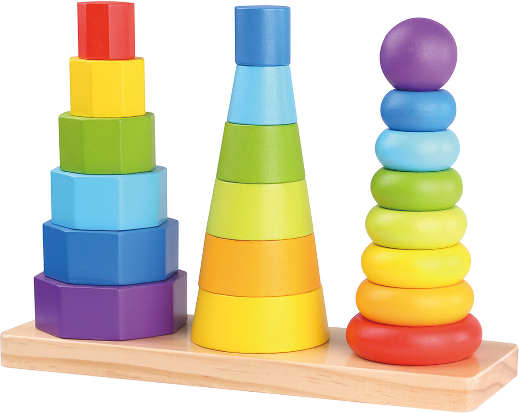 Tooky Toy Wooden Shape Tower