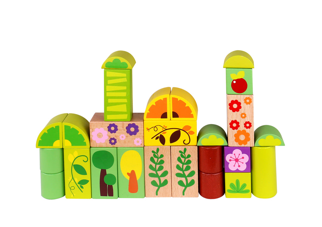 Tooky Toy Wooden Jungle Block  -135pic