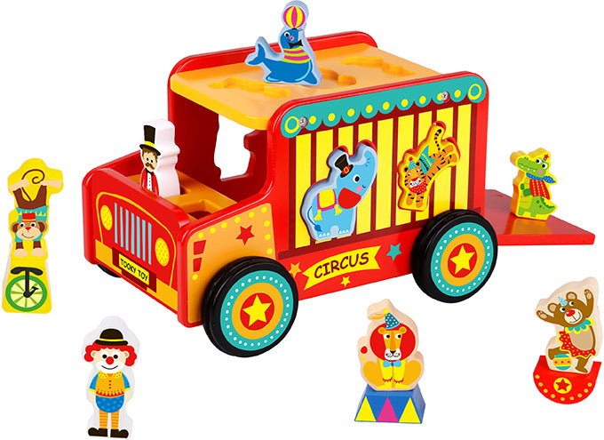 Tooky Toy Wooden Circus Safari Jeep
