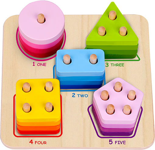 Tooky Toy Wooden Geometric Block Sorter