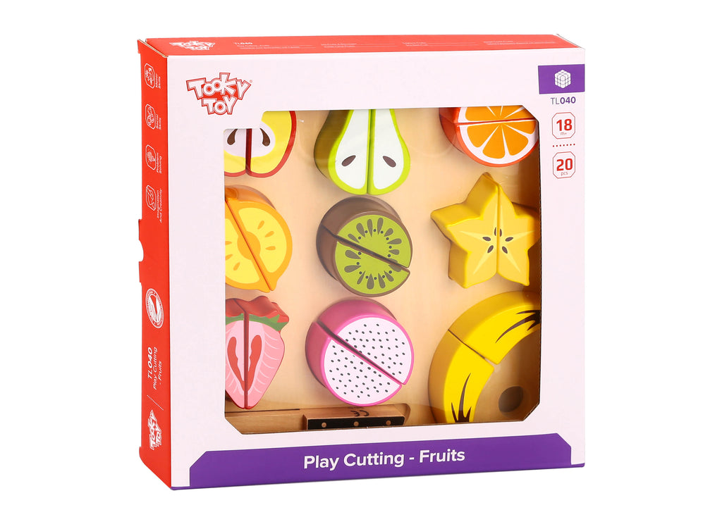 Tooky Toy Wooden Cutting Fruits Set 11 Pieces