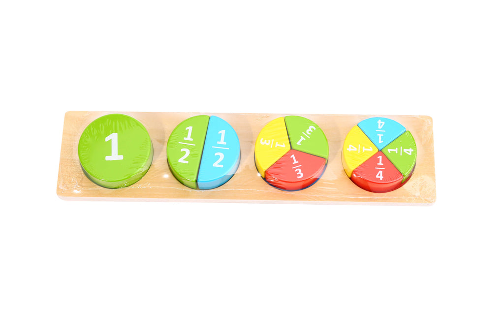 Tooky Toy Wooden Block Puzzle - Round