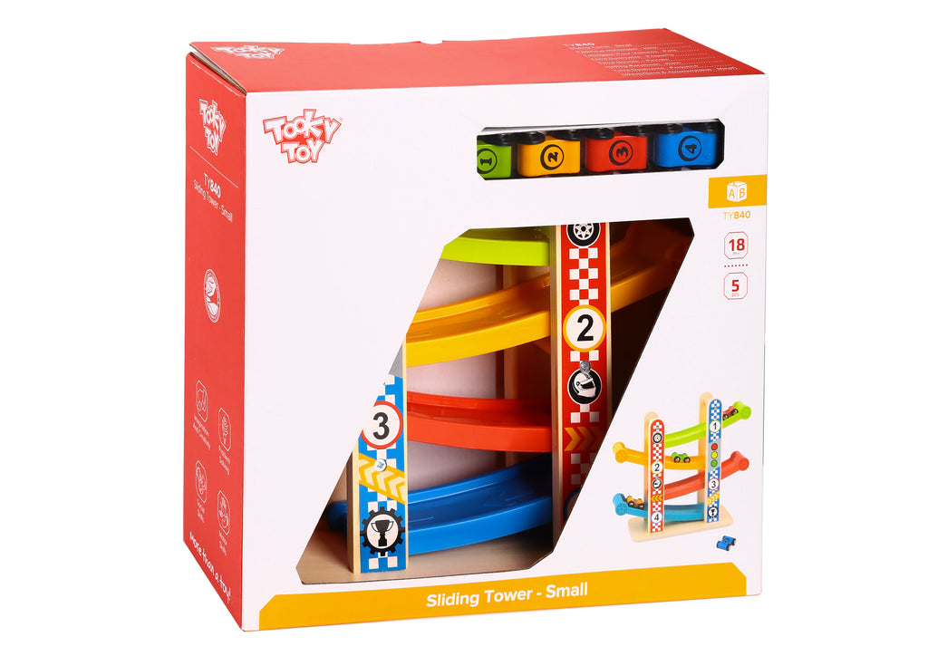 Tooky Toy Wooden Sliding Tower