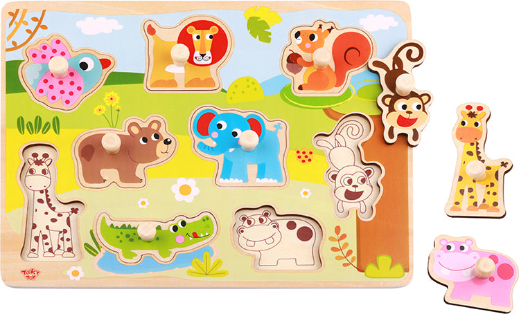 Tooky Toy Wooden Animal Puzzle