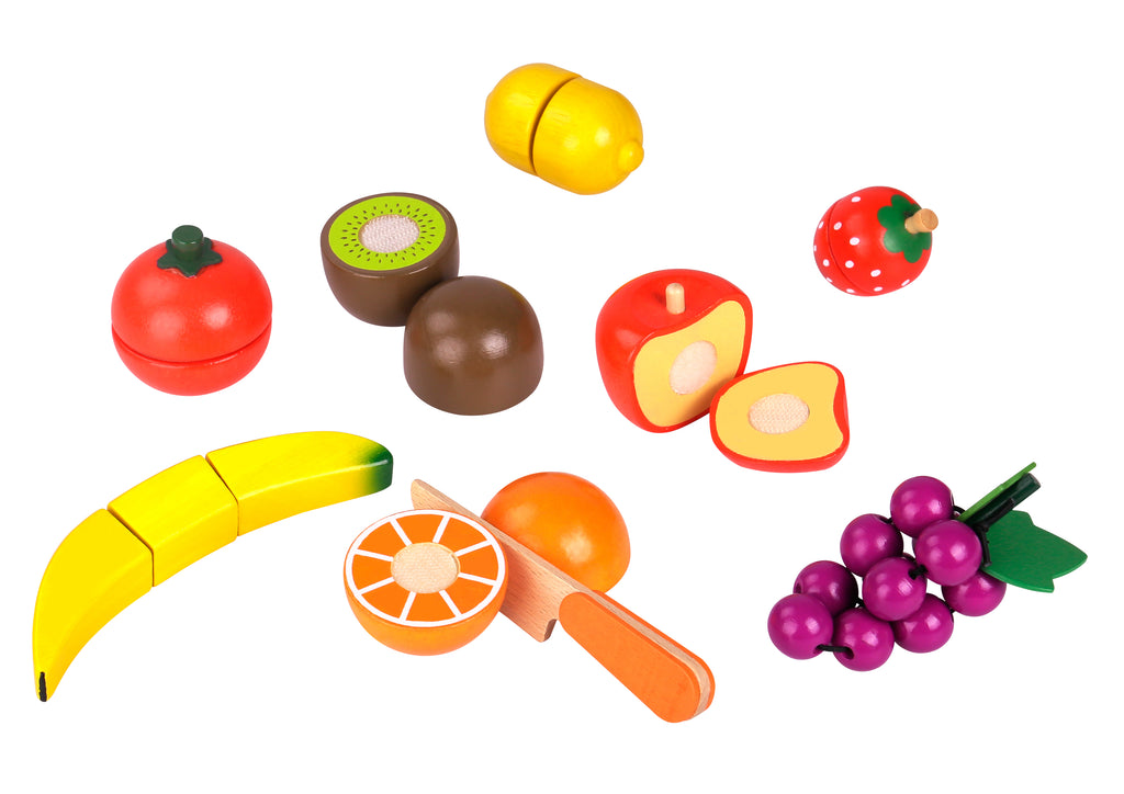 Tooky Toy Wooden Cutting Fruit Set - 8Pieces