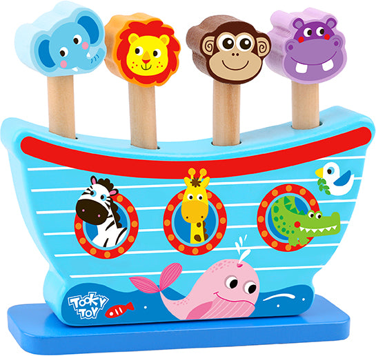 Tooky Toy Wooden Pop Up Animals