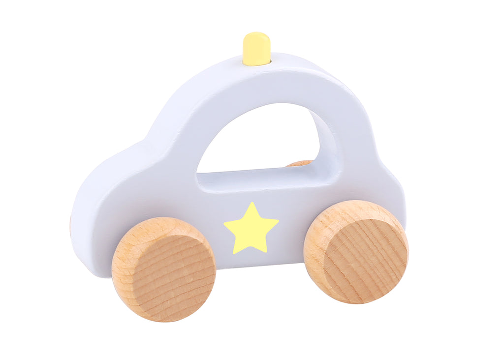 Tooky toy Wooden Macarons Roller-Police Car