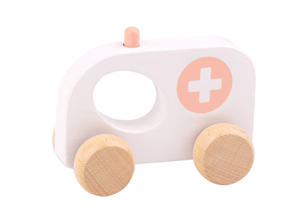 Tooky toy Wooden Macarons Roller-Ambulance