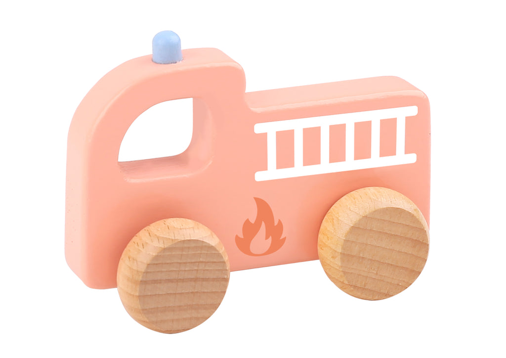 Tooky toy Wooden Macarons Roller-Fire Engine