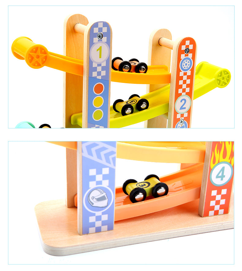Tooky Toy Wooden Sliding Tower-Macarons